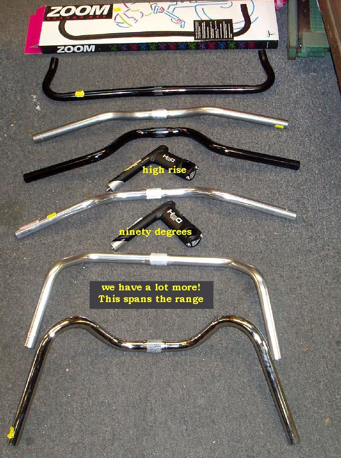 Bikes Handlebar Types Various Upright Bars Photo