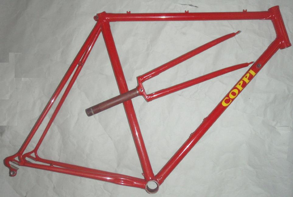 Fausto Coppi Frame Repaint / Respray / Refinishing at Yellow Jersey