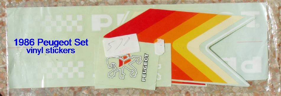 Transfers Decals 0619 Peugeot Bicycle Frame Stickers
