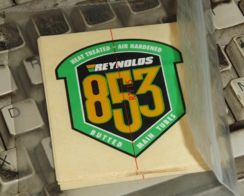 Original Reynolds 531 Fork Blade Tubing Decals not repro
