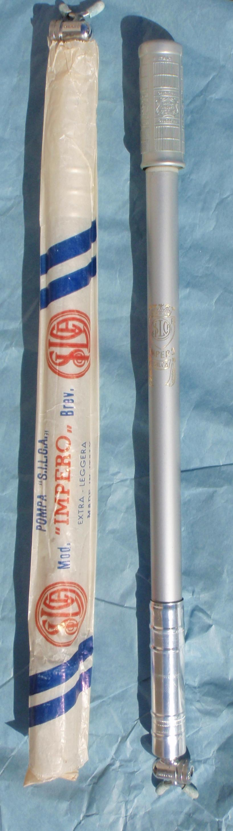 w//o Pump-Head New-Old-Stock White Silca Impero Frame-Fit Pump...Size 56cm